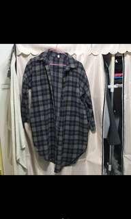 🚚 毛料格紋襯衫外套