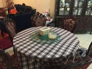 Dining with marble table