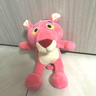 🚚 粉紅頑皮豹坐姿絨毛玩偶娃娃