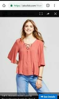 Mossimo lace up top