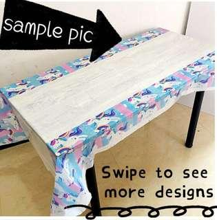 (4/4) Disposable party table cloth / tablecover (for birthday party , events )