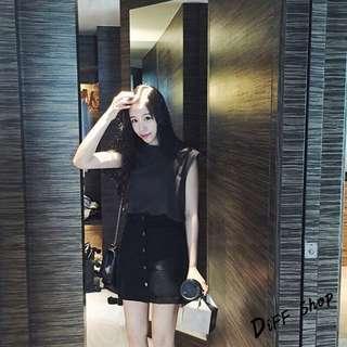 (轉售)DIFF 韓版 牛仔口袋短裙 顯瘦 A字裙 牛仔裙