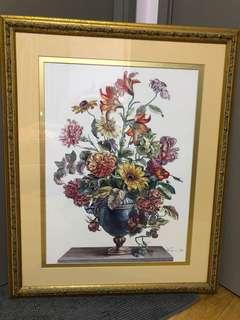 Antique painting with frame size:26.5 x 31.5 in