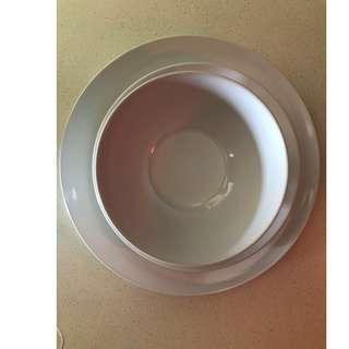 Plates and Bowls Set  (6 Big Plates, 6 Small Plates, 6 Bowls)