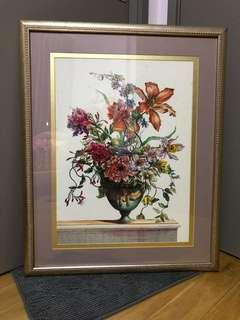 Antique painting with solid wood frame size:25.5 x 31.5 in