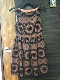 Quality Nude Black Dress