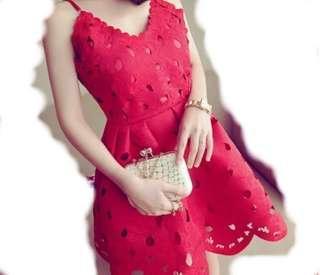 (BNWT) Red Dress / Elizebeth Baby Doll Dress