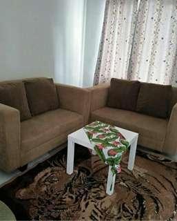 Sofa Minimalis Coklat 2+2 (Preloved)