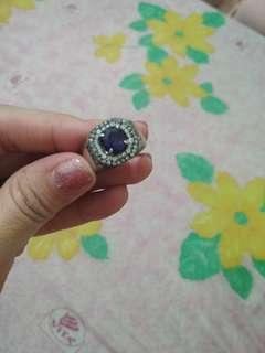 Cincin Batu Safir Purple