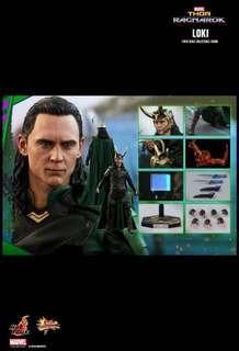 全新膠袋未開 Hottoys Thor 3 Ragnarok Loki 雷神3 洛基 MMS472