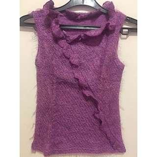 Purple Knit Top