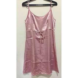 Pink Silk Tanktop Dress