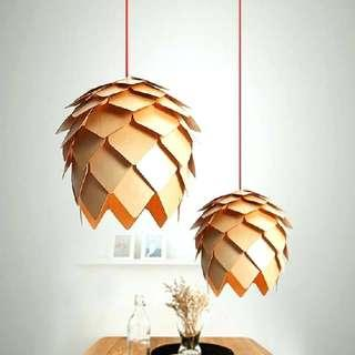 Wooden Hanging Light