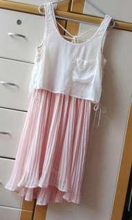 ✨Japanese / Pink & white/ dress✨
