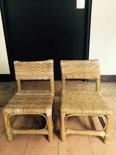 🚚 Kid's Rattan Chairs