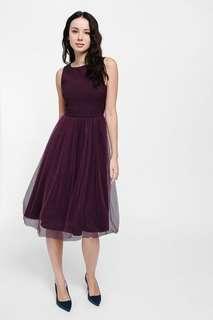 Brand new Love bonito Medina mesh tulle midi dress size s