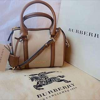 Burberry Brown The Small Alchester In Cotton Gabardine