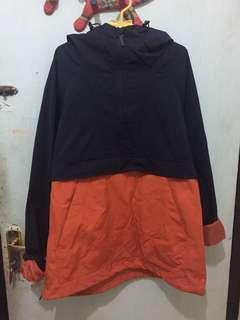 Orange/Navy Parka Jacket by H&M