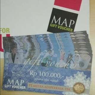 Voucher MAP Gift Murah Banget (100 ribu = 85 ribu)