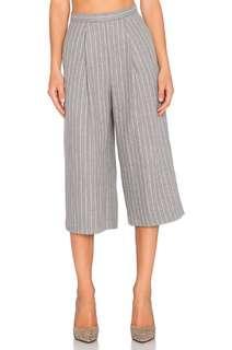 Grey Striped Culottes.