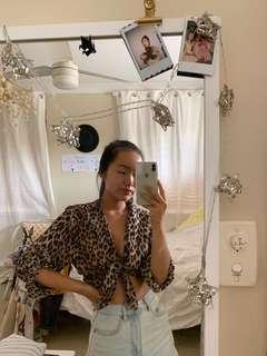 Leopard print blouse