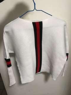 White/Black/Red Long Sleeve