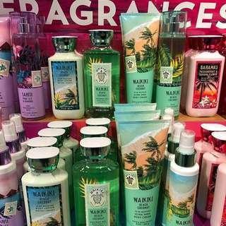 Bath & Body Works Tropical Fragrances