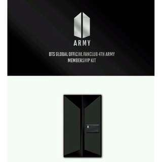 looking for bts global official fanclub army 4th membership kit