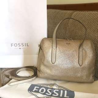 Fossil Sydney Satchel SS Gold