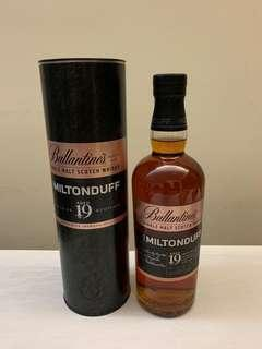 [全新]Ballantine's 19 years single malt scotch whisky miltonduff wisky ballantine's