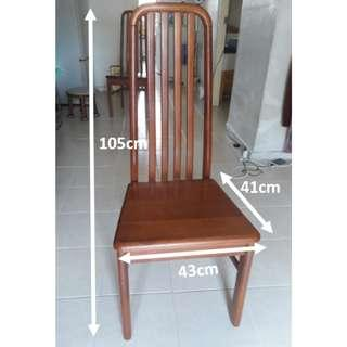 $60 (3pcs)- Nyatoh Hardwood Chairs