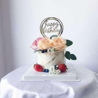 Fresh Flower Cake