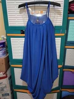 Mididress blue bigsize