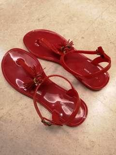 Country Road Red Jelly Sandals