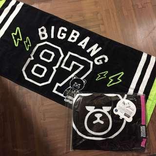 🚚 官方 BIGBANG KRUNK 毛巾 TOP T.O.P / GD Gdragon
