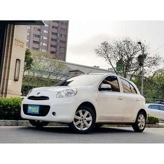 2012年 日產 MARCH 1.5 SL 頂級有I-KEY 一手女用只跑五萬全車如新 可全額貸款