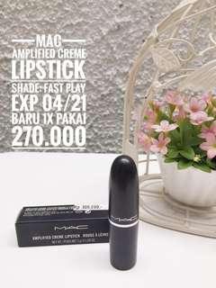MAC lipstick (ori), shade fast play, exp 04/22