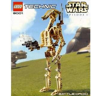 $20 - Lego: TECHNIC Battle Droid LEGO 8001 Star Wars