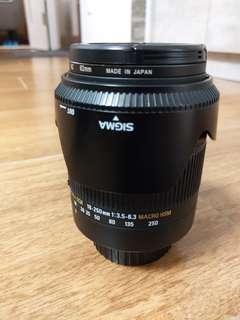 Sigma 18-250 f3.5-6.3 Marco Hsm 天涯鏡( Nikon Mount)