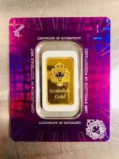 Scottdale 10 gram 999 gold