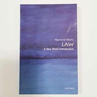 🚚 Raymond Wacks Law A Very Short Intoduction