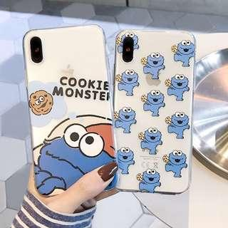🚚 #006 cute cookie monster transparent casing