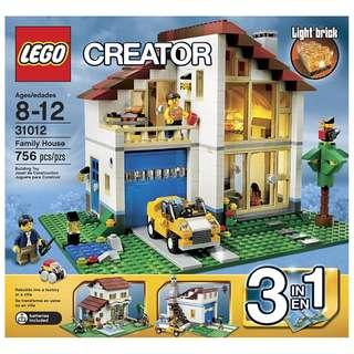 LEGO® Creator™ 31012 Family House (Retired/MISB)
