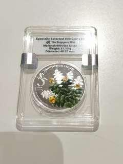 2015 Singapore Orchid $5 Silver Proof F021