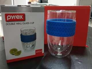Pyrex doublewall glass cup (400ml)
