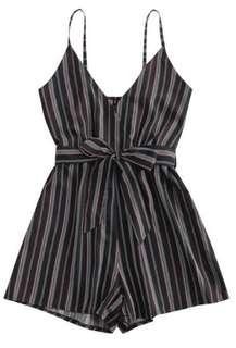 Cami Striped Romper