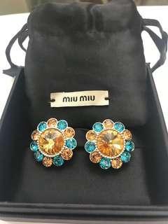 Miu Miu Swarovski clip earring