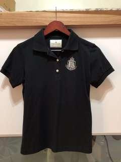 🚚 黑色polo衫👕大童尺寸L❗️成人s可穿🌟僅試穿