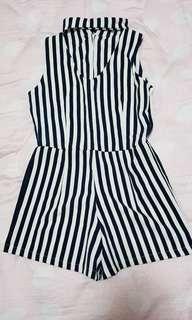 Jumpsuit Navy Stripes