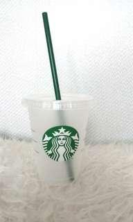 Starbucks Reusable Cold Cup Tumbler Grande including straw
